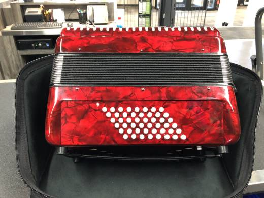 Store Special Product - Hohnica 1304 Piano Accordion - 26 Keys/48 Bass - Red